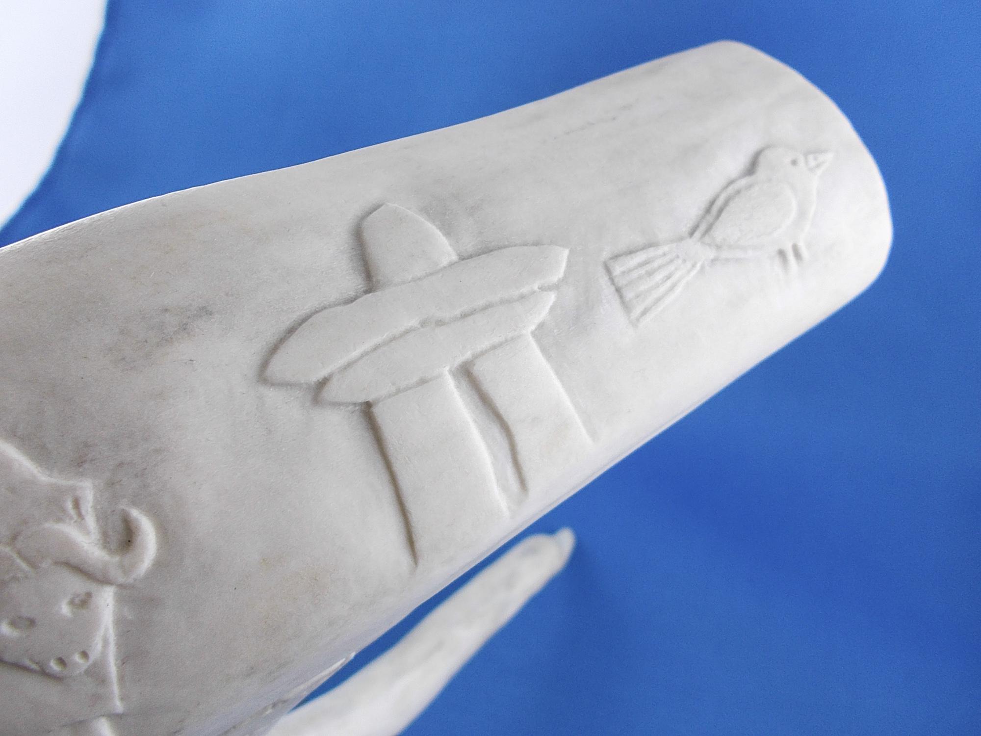 Caribou antler carving
