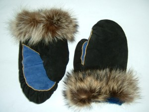Suede leather mitts